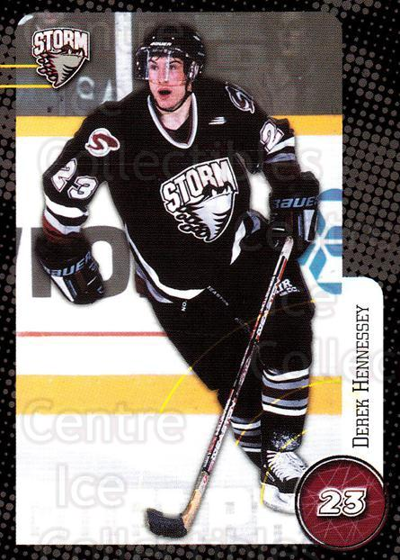1999-00 Guelph Storm #19 Derek Hennessey<br/>1 In Stock - $3.00 each - <a href=https://centericecollectibles.foxycart.com/cart?name=1999-00%20Guelph%20Storm%20%2319%20Derek%20Hennessey...&quantity_max=1&price=$3.00&code=76035 class=foxycart> Buy it now! </a>