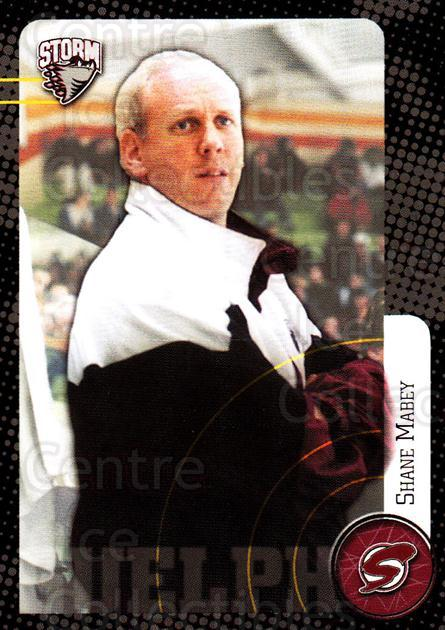 1999-00 Guelph Storm #28 Shane Mabey<br/>1 In Stock - $3.00 each - <a href=https://centericecollectibles.foxycart.com/cart?name=1999-00%20Guelph%20Storm%20%2328%20Shane%20Mabey...&quantity_max=1&price=$3.00&code=76044 class=foxycart> Buy it now! </a>