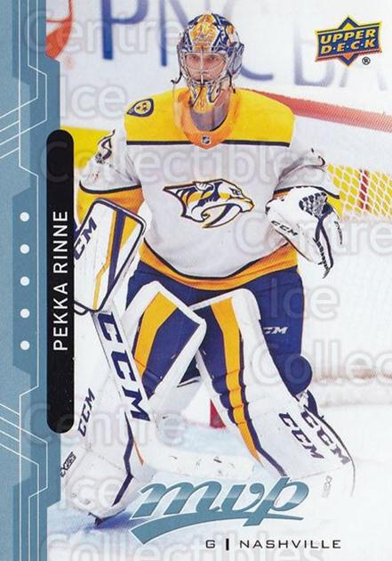 2018-19 Upper Deck MVP Blue #161 Pekka Rinne<br/>1 In Stock - $1.00 each - <a href=https://centericecollectibles.foxycart.com/cart?name=2018-19%20Upper%20Deck%20MVP%20Blue%20%23161%20Pekka%20Rinne...&quantity_max=1&price=$1.00&code=760869 class=foxycart> Buy it now! </a>