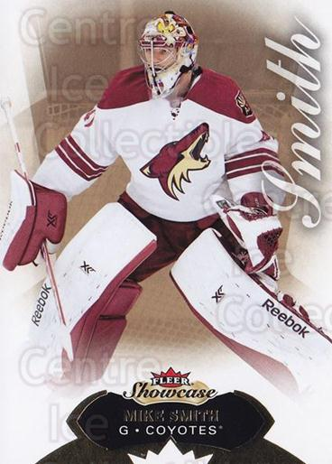 2014-15 Fleer Showcase #99 Mike Smith<br/>1 In Stock - $1.00 each - <a href=https://centericecollectibles.foxycart.com/cart?name=2014-15%20Fleer%20Showcase%20%2399%20Mike%20Smith...&quantity_max=1&price=$1.00&code=761097 class=foxycart> Buy it now! </a>