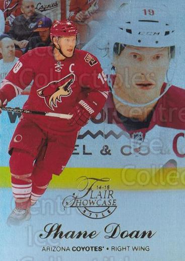 2014-15 Fleer Showcase Flair #7 Shane Doan<br/>1 In Stock - $3.00 each - <a href=https://centericecollectibles.foxycart.com/cart?name=2014-15%20Fleer%20Showcase%20Flair%20%237%20Shane%20Doan...&quantity_max=1&price=$3.00&code=761215 class=foxycart> Buy it now! </a>
