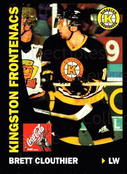 1999-00 Kingston Frontenacs #4 Brett Clouthier<br/>1 In Stock - $3.00 each - <a href=https://centericecollectibles.foxycart.com/cart?name=1999-00%20Kingston%20Frontenacs%20%234%20Brett%20Clouthier...&price=$3.00&code=76205 class=foxycart> Buy it now! </a>