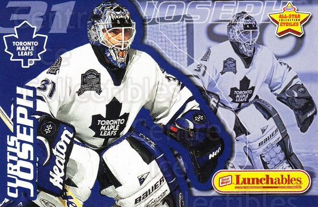 1999-00 Kraft Lunchables AS Factory #10 Curtis Joseph<br/>3 In Stock - $3.00 each - <a href=https://centericecollectibles.foxycart.com/cart?name=1999-00%20Kraft%20Lunchables%20AS%20Factory%20%2310%20Curtis%20Joseph...&quantity_max=3&price=$3.00&code=76221 class=foxycart> Buy it now! </a>
