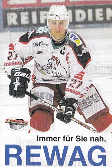 2002-03 German Eisbaren Regensburg Team Issue #8 Martin Ancicka<br/>1 In Stock - $3.00 each - <a href=https://centericecollectibles.foxycart.com/cart?name=2002-03%20German%20Eisbaren%20Regensburg%20Team%20Issue%20%238%20Martin%20Ancicka...&quantity_max=1&price=$3.00&code=762958 class=foxycart> Buy it now! </a>