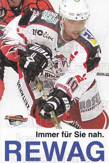 2002-03 German Eisbaren Regensburg Team Issue #18 Marco Thommes<br/>1 In Stock - $3.00 each - <a href=https://centericecollectibles.foxycart.com/cart?name=2002-03%20German%20Eisbaren%20Regensburg%20Team%20Issue%20%2318%20Marco%20Thommes...&quantity_max=1&price=$3.00&code=762968 class=foxycart> Buy it now! </a>