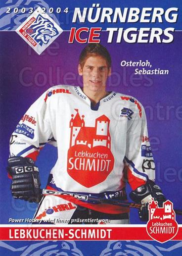 2003-04 German Nurnberg Ice Tigers Postcards #26 Sebastian Osterloh<br/>1 In Stock - $3.00 each - <a href=https://centericecollectibles.foxycart.com/cart?name=2003-04%20German%20Nurnberg%20Ice%20Tigers%20Postcards%20%2326%20Sebastian%20Oster...&quantity_max=1&price=$3.00&code=763166 class=foxycart> Buy it now! </a>