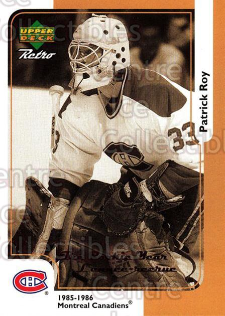 1999-00 McDonalds Upper Deck Retro #15R Patrick Roy<br/>8 In Stock - $2.00 each - <a href=https://centericecollectibles.foxycart.com/cart?name=1999-00%20McDonalds%20Upper%20Deck%20Retro%20%2315R%20Patrick%20Roy...&quantity_max=8&price=$2.00&code=76333 class=foxycart> Buy it now! </a>