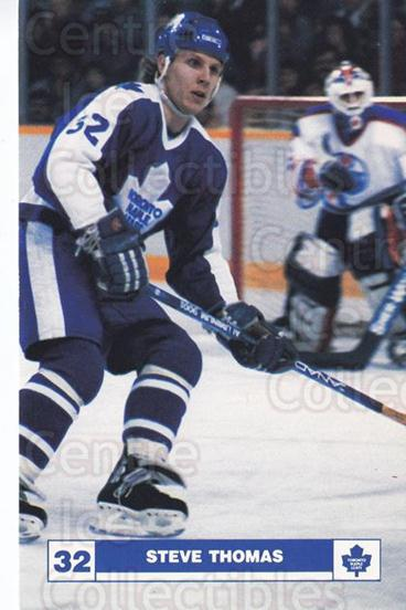 1986-87 Toronto Maple Leafs Postcards #23 Steve Thomas<br/>1 In Stock - $3.00 each - <a href=https://centericecollectibles.foxycart.com/cart?name=1986-87%20Toronto%20Maple%20Leafs%20Postcards%20%2323%20Steve%20Thomas...&quantity_max=1&price=$3.00&code=763425 class=foxycart> Buy it now! </a>