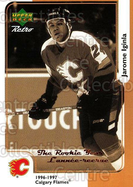 1999-00 McDonalds Upper Deck Retro #05R Jarome Iginla<br/>9 In Stock - $1.00 each - <a href=https://centericecollectibles.foxycart.com/cart?name=1999-00%20McDonalds%20Upper%20Deck%20Retro%20%2305R%20Jarome%20Iginla...&quantity_max=9&price=$1.00&code=76347 class=foxycart> Buy it now! </a>