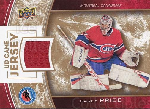 2014 Upper Deck Hockey Hall of Fame UD Game Jersey #CP Carey Price<br/>1 In Stock - $40.00 each - <a href=https://centericecollectibles.foxycart.com/cart?name=2014%20Upper%20Deck%20Hockey%20Hall%20of%20Fame%20UD%20Game%20Jersey%20%23CP%20Carey%20Price...&quantity_max=1&price=$40.00&code=763498 class=foxycart> Buy it now! </a>