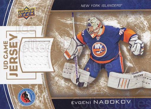 2014 Upper Deck Hockey Hall of Fame UD Game Jersey #EN Evgeni Nabokov<br/>1 In Stock - $20.00 each - <a href=https://centericecollectibles.foxycart.com/cart?name=2014%20Upper%20Deck%20Hockey%20Hall%20of%20Fame%20UD%20Game%20Jersey%20%23EN%20Evgeni%20Nabokov...&quantity_max=1&price=$20.00&code=763502 class=foxycart> Buy it now! </a>