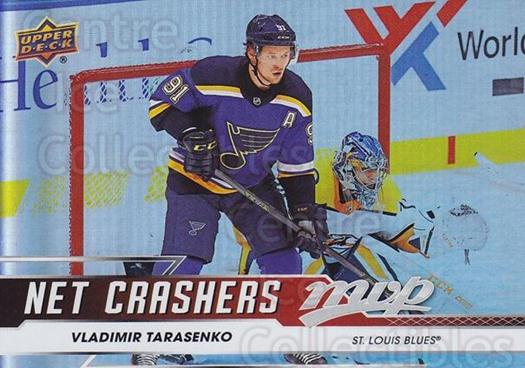 2019-20 Upper Deck MVP Net Crashers #4 Vladimir Tarasenko<br/>1 In Stock - $3.00 each - <a href=https://centericecollectibles.foxycart.com/cart?name=2019-20%20Upper%20Deck%20MVP%20Net%20Crashers%20%234%20Vladimir%20Tarase...&quantity_max=1&price=$3.00&code=764339 class=foxycart> Buy it now! </a>