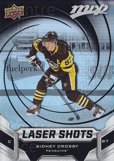 2019-20 Upper Deck MVP Laser Shots #6 Sidney Crosby<br/>1 In Stock - $5.00 each - <a href=https://centericecollectibles.foxycart.com/cart?name=2019-20%20Upper%20Deck%20MVP%20Laser%20Shots%20%236%20Sidney%20Crosby...&quantity_max=1&price=$5.00&code=764351 class=foxycart> Buy it now! </a>
