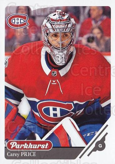 2018-19 Parkhurst #20 Carey Price<br/>2 In Stock - $3.00 each - <a href=https://centericecollectibles.foxycart.com/cart?name=2018-19%20Parkhurst%20%2320%20Carey%20Price...&quantity_max=2&price=$3.00&code=764375 class=foxycart> Buy it now! </a>