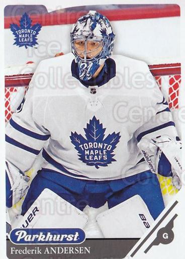 2018-19 Parkhurst #100 Frederik Andersen<br/>2 In Stock - $1.00 each - <a href=https://centericecollectibles.foxycart.com/cart?name=2018-19%20Parkhurst%20%23100%20Frederik%20Anders...&quantity_max=2&price=$1.00&code=764455 class=foxycart> Buy it now! </a>