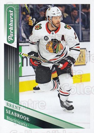 2019-20 Parkhurst #168 Brent Seabrook<br/>2 In Stock - $1.00 each - <a href=https://centericecollectibles.foxycart.com/cart?name=2019-20%20Parkhurst%20%23168%20Brent%20Seabrook...&quantity_max=2&price=$1.00&code=764903 class=foxycart> Buy it now! </a>