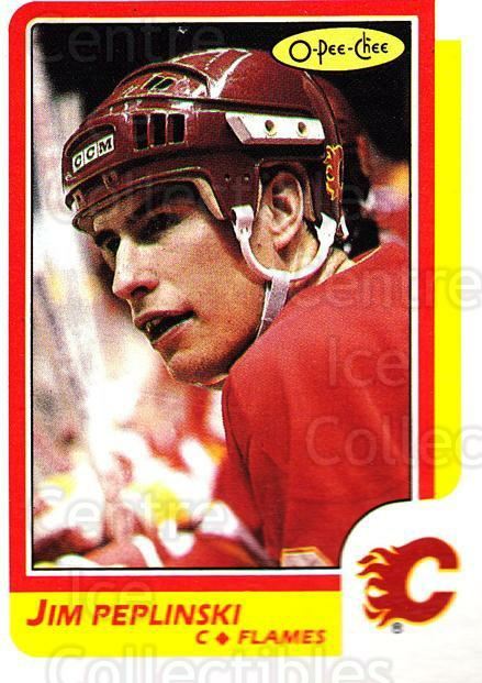1986-87 O-pee-chee Blank Backs #182 Jim Peplinski<br/>1 In Stock - $5.00 each - <a href=https://centericecollectibles.foxycart.com/cart?name=1986-87%20O-pee-chee%20Blank%20Backs%20%23182%20Jim%20Peplinski...&quantity_max=1&price=$5.00&code=765639 class=foxycart> Buy it now! </a>