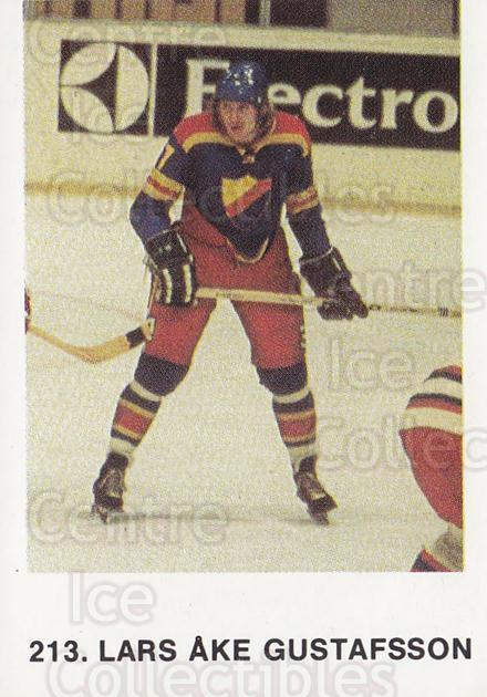 1973-74 Swedish Hockey Stickers #213 Lars Ake Gustavsson<br/>2 In Stock - $5.00 each - <a href=https://centericecollectibles.foxycart.com/cart?name=1973-74%20Swedish%20Hockey%20Stickers%20%23213%20Lars%20Ake%20Gustav...&quantity_max=2&price=$5.00&code=766162 class=foxycart> Buy it now! </a>