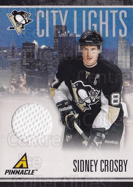 2010-11 Pinnacle City Lights Materials #1 Sidney Crosby<br/>1 In Stock - $20.00 each - <a href=https://centericecollectibles.foxycart.com/cart?name=2010-11%20Pinnacle%20City%20Lights%20Materials%20%231%20Sidney%20Crosby...&quantity_max=1&price=$20.00&code=766302 class=foxycart> Buy it now! </a>