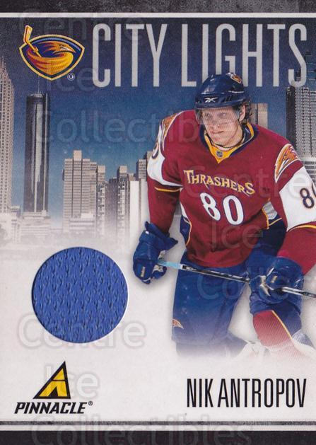 2010-11 Pinnacle City Lights Materials #18 Nik Antropov<br/>1 In Stock - $10.00 each - <a href=https://centericecollectibles.foxycart.com/cart?name=2010-11%20Pinnacle%20City%20Lights%20Materials%20%2318%20Nik%20Antropov...&quantity_max=1&price=$10.00&code=766319 class=foxycart> Buy it now! </a>
