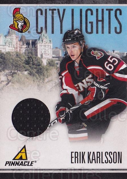 2010-11 Pinnacle City Lights Materials #31 Erik Karlsson<br/>1 In Stock - $10.00 each - <a href=https://centericecollectibles.foxycart.com/cart?name=2010-11%20Pinnacle%20City%20Lights%20Materials%20%2331%20Erik%20Karlsson...&quantity_max=1&price=$10.00&code=766332 class=foxycart> Buy it now! </a>