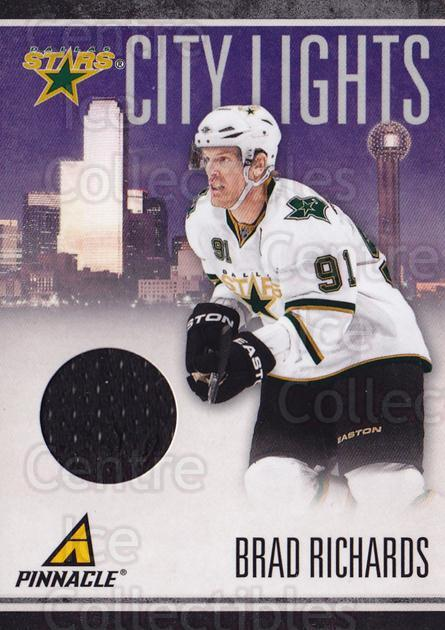 2010-11 Pinnacle City Lights Materials #44 Brad Richards<br/>1 In Stock - $10.00 each - <a href=https://centericecollectibles.foxycart.com/cart?name=2010-11%20Pinnacle%20City%20Lights%20Materials%20%2344%20Brad%20Richards...&quantity_max=1&price=$10.00&code=766345 class=foxycart> Buy it now! </a>