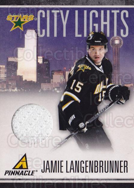2010-11 Pinnacle City Lights Materials #60 Jamie Langenbrunner<br/>1 In Stock - $10.00 each - <a href=https://centericecollectibles.foxycart.com/cart?name=2010-11%20Pinnacle%20City%20Lights%20Materials%20%2360%20Jamie%20Langenbru...&quantity_max=1&price=$10.00&code=766361 class=foxycart> Buy it now! </a>