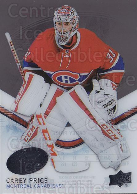 2016-17 UD Ice #10 Carey Price<br/>2 In Stock - $5.00 each - <a href=https://centericecollectibles.foxycart.com/cart?name=2016-17%20UD%20Ice%20%2310%20Carey%20Price...&quantity_max=2&price=$5.00&code=766446 class=foxycart> Buy it now! </a>