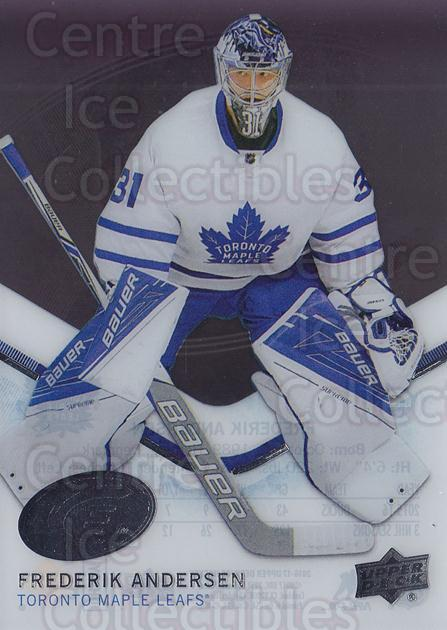 2016-17 UD Ice #49 Frederik Andersen<br/>2 In Stock - $2.00 each - <a href=https://centericecollectibles.foxycart.com/cart?name=2016-17%20UD%20Ice%20%2349%20Frederik%20Anders...&quantity_max=2&price=$2.00&code=766485 class=foxycart> Buy it now! </a>