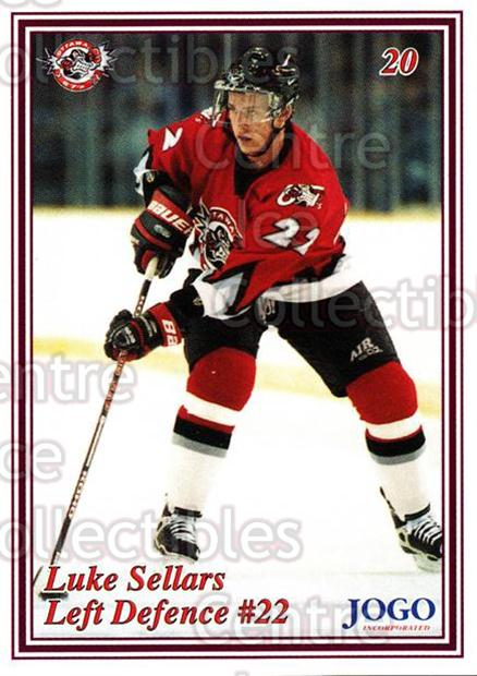 1999-00 Ottawa 67s #20 Luke Sellars<br/>8 In Stock - $3.00 each - <a href=https://centericecollectibles.foxycart.com/cart?name=1999-00%20Ottawa%2067s%20%2320%20Luke%20Sellars...&quantity_max=8&price=$3.00&code=76660 class=foxycart> Buy it now! </a>