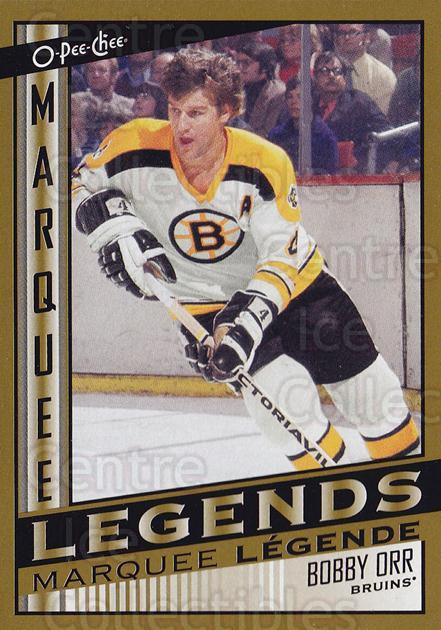2013-14 O-Pee-Chee Marquee Legends #2 Bobby Orr<br/>2 In Stock - $20.00 each - <a href=https://centericecollectibles.foxycart.com/cart?name=2013-14%20O-Pee-Chee%20Marquee%20Legends%20%232%20Bobby%20Orr...&quantity_max=2&price=$20.00&code=766638 class=foxycart> Buy it now! </a>