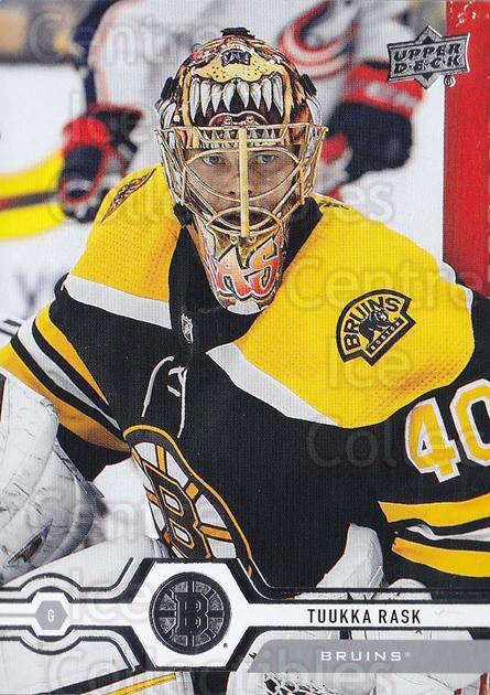 2019-20 Upper Deck #8 Tuukka Rask<br/>14 In Stock - $2.00 each - <a href=https://centericecollectibles.foxycart.com/cart?name=2019-20%20Upper%20Deck%20%238%20Tuukka%20Rask...&quantity_max=14&price=$2.00&code=766917 class=foxycart> Buy it now! </a>