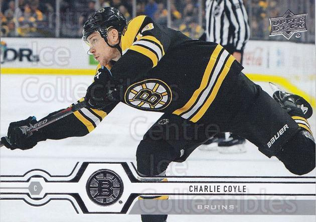 2019-20 Upper Deck #9 Charlie Coyle<br/>14 In Stock - $1.00 each - <a href=https://centericecollectibles.foxycart.com/cart?name=2019-20%20Upper%20Deck%20%239%20Charlie%20Coyle...&quantity_max=14&price=$1.00&code=766918 class=foxycart> Buy it now! </a>