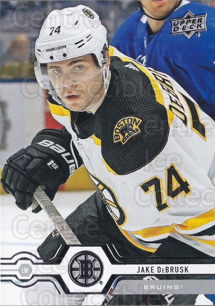 2019-20 Upper Deck #10 Jake DeBrusk<br/>15 In Stock - $1.00 each - <a href=https://centericecollectibles.foxycart.com/cart?name=2019-20%20Upper%20Deck%20%2310%20Jake%20DeBrusk...&quantity_max=15&price=$1.00&code=766919 class=foxycart> Buy it now! </a>