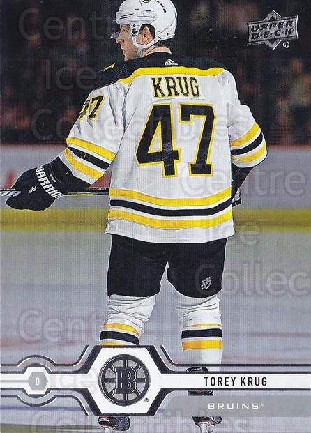 2019-20 Upper Deck #13 Torey Krug<br/>15 In Stock - $1.00 each - <a href=https://centericecollectibles.foxycart.com/cart?name=2019-20%20Upper%20Deck%20%2313%20Torey%20Krug...&quantity_max=15&price=$1.00&code=766922 class=foxycart> Buy it now! </a>