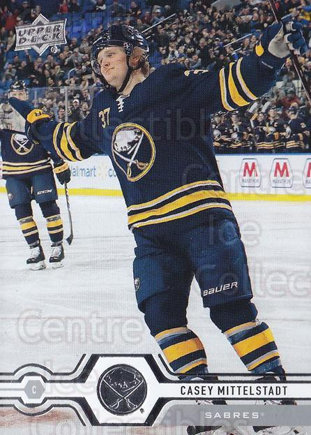 2019-20 Upper Deck #17 Casey Mittelstadt<br/>15 In Stock - $1.00 each - <a href=https://centericecollectibles.foxycart.com/cart?name=2019-20%20Upper%20Deck%20%2317%20Casey%20Mittelsta...&quantity_max=15&price=$1.00&code=766926 class=foxycart> Buy it now! </a>