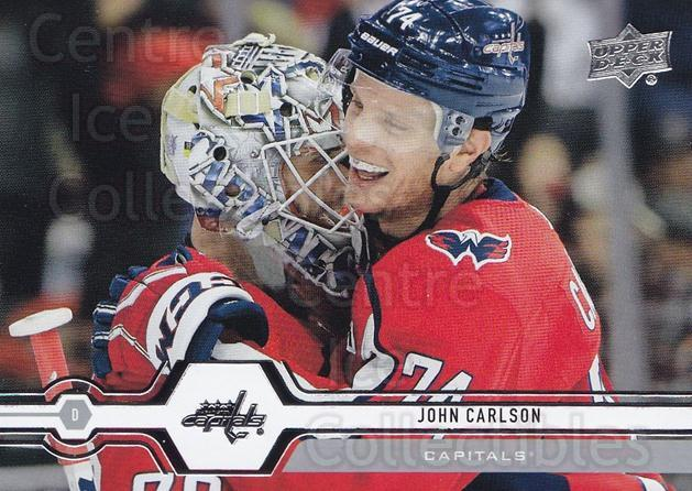 2019-20 Upper Deck #64 John Carlson<br/>15 In Stock - $1.00 each - <a href=https://centericecollectibles.foxycart.com/cart?name=2019-20%20Upper%20Deck%20%2364%20John%20Carlson...&quantity_max=15&price=$1.00&code=766973 class=foxycart> Buy it now! </a>