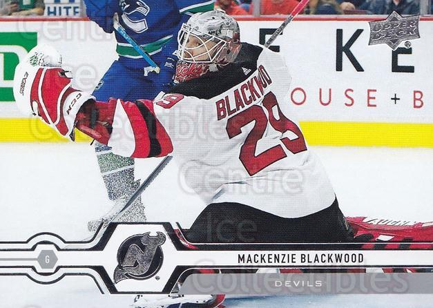2019-20 Upper Deck #83 Mackenzie Blackwood<br/>15 In Stock - $1.00 each - <a href=https://centericecollectibles.foxycart.com/cart?name=2019-20%20Upper%20Deck%20%2383%20Mackenzie%20Black...&quantity_max=15&price=$1.00&code=766992 class=foxycart> Buy it now! </a>
