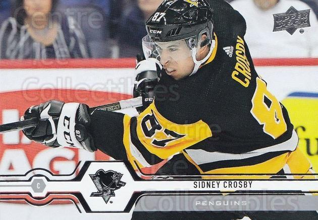 2019-20 Upper Deck #100 Sidney Crosby<br/>15 In Stock - $3.00 each - <a href=https://centericecollectibles.foxycart.com/cart?name=2019-20%20Upper%20Deck%20%23100%20Sidney%20Crosby...&quantity_max=15&price=$3.00&code=767009 class=foxycart> Buy it now! </a>