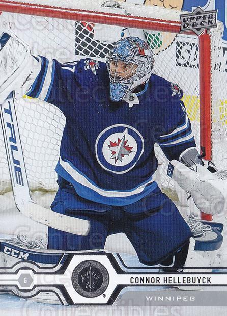 2019-20 Upper Deck #109 Connor Hellebuyck<br/>14 In Stock - $1.00 each - <a href=https://centericecollectibles.foxycart.com/cart?name=2019-20%20Upper%20Deck%20%23109%20Connor%20Hellebuy...&quantity_max=14&price=$1.00&code=767018 class=foxycart> Buy it now! </a>