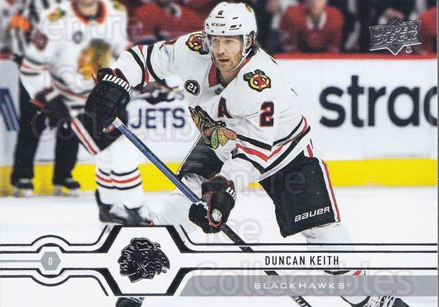 2019-20 Upper Deck #114 Duncan Keith<br/>15 In Stock - $1.00 each - <a href=https://centericecollectibles.foxycart.com/cart?name=2019-20%20Upper%20Deck%20%23114%20Duncan%20Keith...&quantity_max=15&price=$1.00&code=767023 class=foxycart> Buy it now! </a>