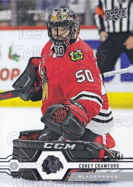 2019-20 Upper Deck #116 Corey Crawford<br/>15 In Stock - $1.00 each - <a href=https://centericecollectibles.foxycart.com/cart?name=2019-20%20Upper%20Deck%20%23116%20Corey%20Crawford...&quantity_max=15&price=$1.00&code=767025 class=foxycart> Buy it now! </a>