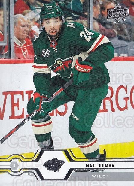 2019-20 Upper Deck #127 Matt Dumba<br/>15 In Stock - $1.00 each - <a href=https://centericecollectibles.foxycart.com/cart?name=2019-20%20Upper%20Deck%20%23127%20Matt%20Dumba...&quantity_max=15&price=$1.00&code=767036 class=foxycart> Buy it now! </a>