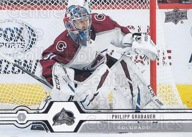 2019-20 Upper Deck #135 Philipp Grubauer<br/>14 In Stock - $1.00 each - <a href=https://centericecollectibles.foxycart.com/cart?name=2019-20%20Upper%20Deck%20%23135%20Philipp%20Grubaue...&quantity_max=14&price=$1.00&code=767044 class=foxycart> Buy it now! </a>