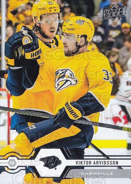 2019-20 Upper Deck #138 Viktor Arvidsson<br/>15 In Stock - $1.00 each - <a href=https://centericecollectibles.foxycart.com/cart?name=2019-20%20Upper%20Deck%20%23138%20Viktor%20Arvidsso...&quantity_max=15&price=$1.00&code=767047 class=foxycart> Buy it now! </a>