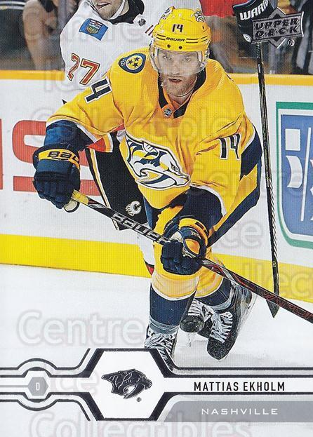 2019-20 Upper Deck #141 Mattias Ekholm<br/>15 In Stock - $1.00 each - <a href=https://centericecollectibles.foxycart.com/cart?name=2019-20%20Upper%20Deck%20%23141%20Mattias%20Ekholm...&quantity_max=15&price=$1.00&code=767050 class=foxycart> Buy it now! </a>