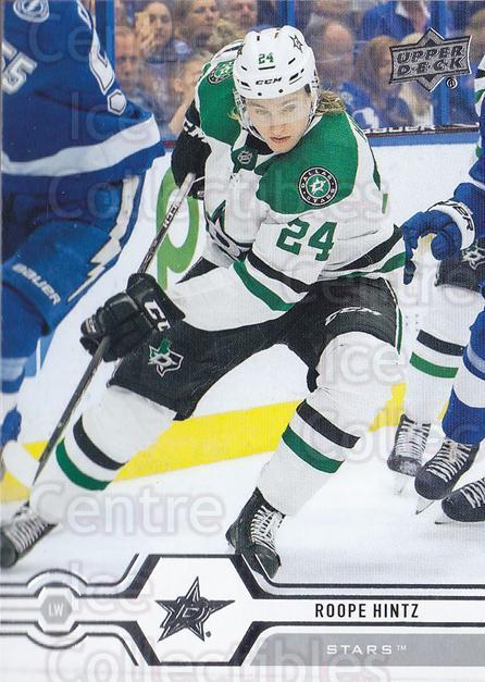 2019-20 Upper Deck #146 Roope Hintz<br/>14 In Stock - $1.00 each - <a href=https://centericecollectibles.foxycart.com/cart?name=2019-20%20Upper%20Deck%20%23146%20Roope%20Hintz...&quantity_max=14&price=$1.00&code=767055 class=foxycart> Buy it now! </a>