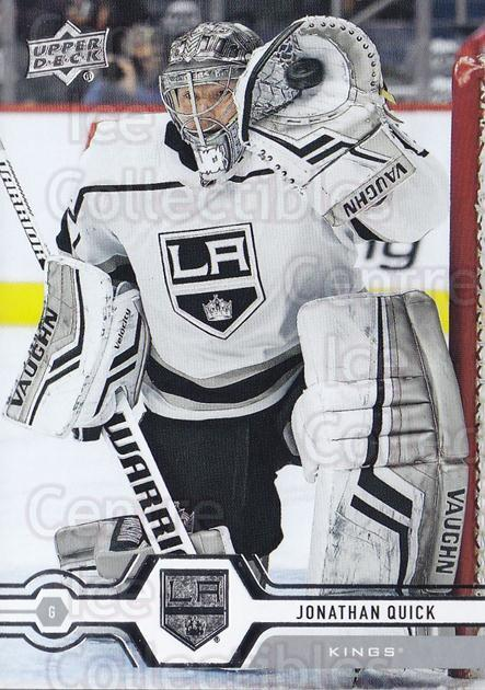2019-20 Upper Deck #154 Jonathan Quick<br/>15 In Stock - $1.00 each - <a href=https://centericecollectibles.foxycart.com/cart?name=2019-20%20Upper%20Deck%20%23154%20Jonathan%20Quick...&quantity_max=15&price=$1.00&code=767063 class=foxycart> Buy it now! </a>