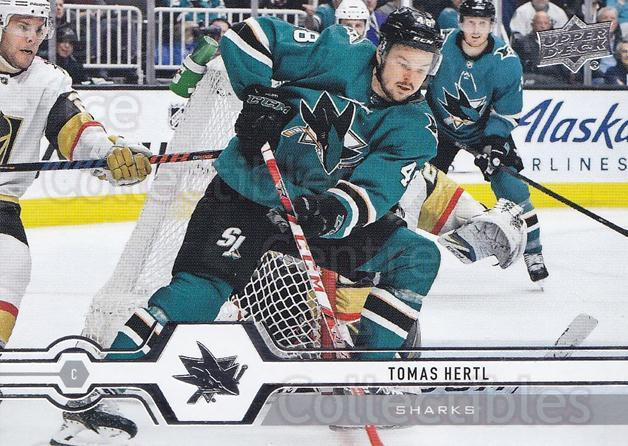 2019-20 Upper Deck #163 Tomas Hertl<br/>15 In Stock - $1.00 each - <a href=https://centericecollectibles.foxycart.com/cart?name=2019-20%20Upper%20Deck%20%23163%20Tomas%20Hertl...&quantity_max=15&price=$1.00&code=767072 class=foxycart> Buy it now! </a>