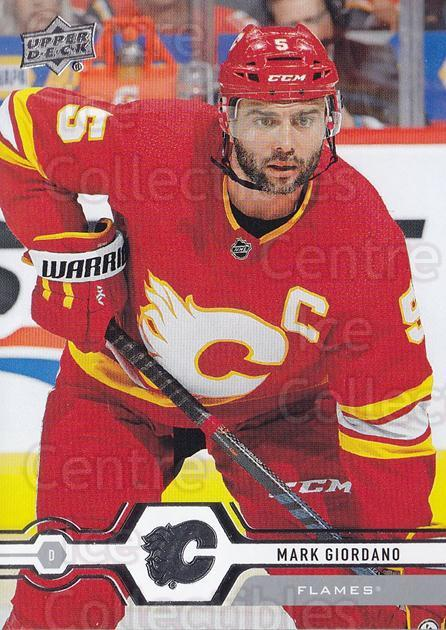 2019-20 Upper Deck #185 Mark Giordano<br/>15 In Stock - $1.00 each - <a href=https://centericecollectibles.foxycart.com/cart?name=2019-20%20Upper%20Deck%20%23185%20Mark%20Giordano...&quantity_max=15&price=$1.00&code=767094 class=foxycart> Buy it now! </a>